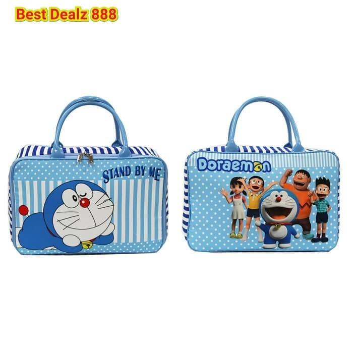 Murmer Tas Travel Bag Koper Kanvas Renang Anak Dewasa Doraemon