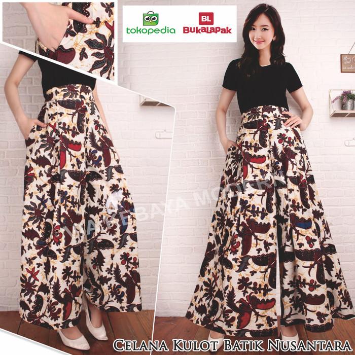 Jual Celana Batik Kulot Modern Celana Kulot Modern Bawahan Wanita Kota Tangerang Selatan Via Kebaya Modern Tokopedia