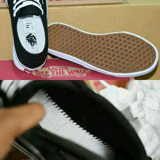 Branded Harga Nyungsep Sepatu Sekolah Vans California Anak Hitam Putih 30e823576e