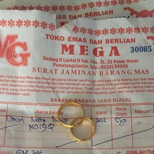 Jual Cincin Emas Kadar 24k Kota Tangerang Lohoshop Tokopedia