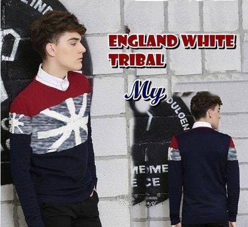 Sweater Distro England White Tribal Premium