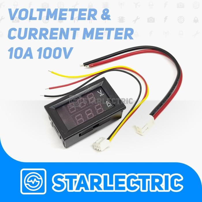 harga Amperemeter dan voltmeter digital frame 0-100v 10a Tokopedia.com