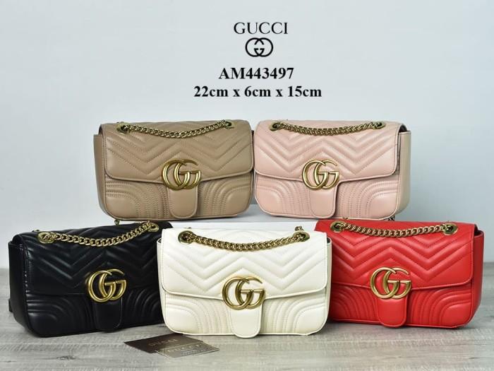 9ee669af233 Jual Tas Gucci Shoulder GG Marmont Matelasse Semprem AM443497 ...