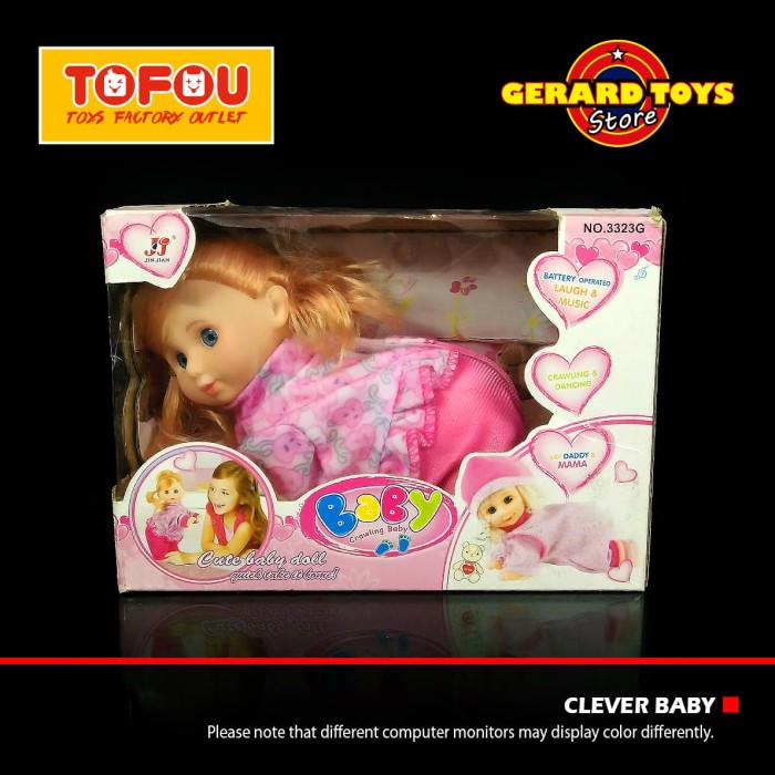 c12039752025 Jual Mainan Clever Baby Bayi Rangkak 3323G Dus Sedang HARGA MURAH ...