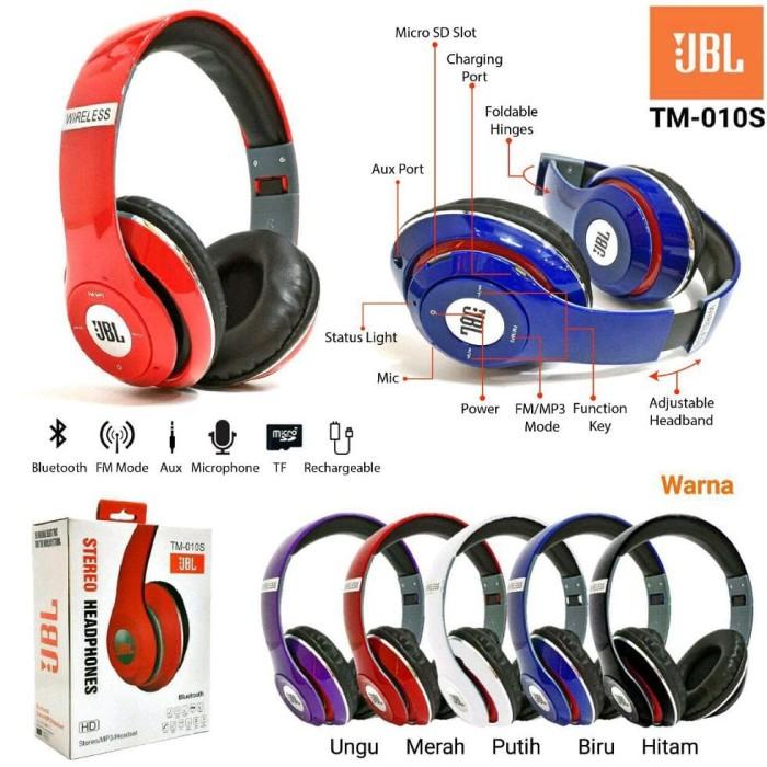 DIJUAL JBL HEADSET STEREO BLUETOOTH SPORT WIRELESS HEADPHONES TM-010S