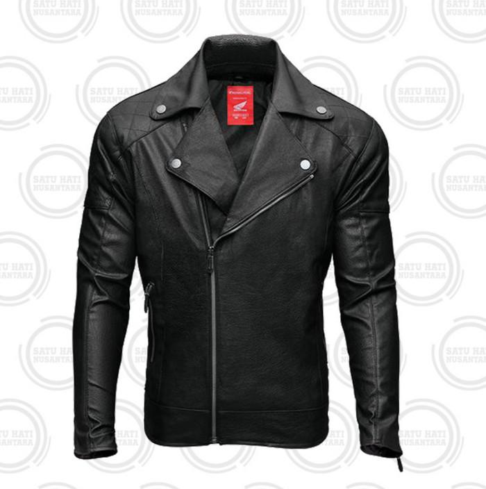 harga Honda ori bikers leather jacket / jaket kulit motor - hitam Tokopedia.com
