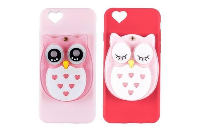 Terlaris OWL MIRROR Case iPhone 5 5s SE 6 6Plus 7 7 Plus 8 8Plus