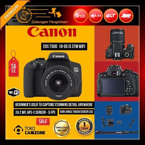 harga Canon eos 750d kit ef-s 18-55mm f/3.5-5.6 is stm wifi Tokopedia.com