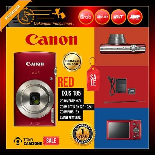 harga Canon ixus 185 digital camera - red Tokopedia.com