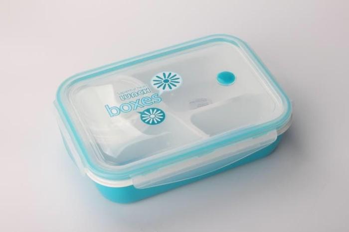 [KOTAK415] Lunch Box Kotak Makan Sup Yooyee 4 Sekat bento kotak bekal - Merah Muda