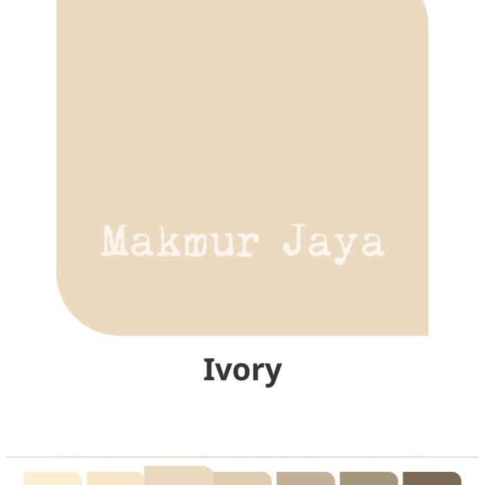 Info Terbaru Warna Cat Ivory Catylac Ideku Unik