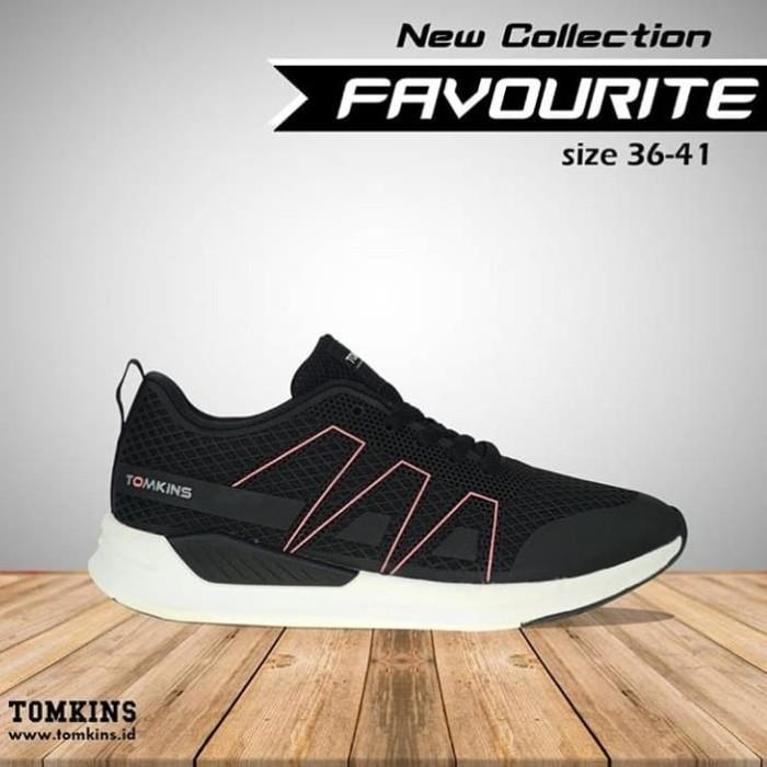 Jual sepatu tomkins wanita favourite black white ... bbf5d821b1