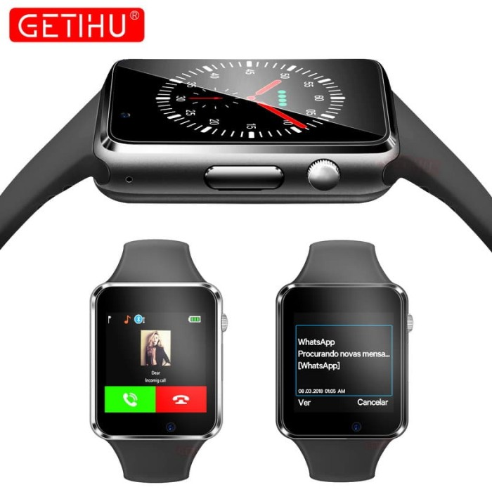 a93c4eb7b1e Jual Bazar A1 Smart Watch Smart Watch Bluetooth Pergelangan Tangan ...