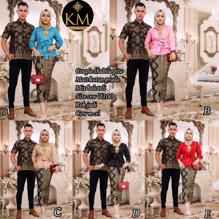 Jual kebaya batik couple modern   sarimbit couple batik shabila pita ... 8d9c2a08d6
