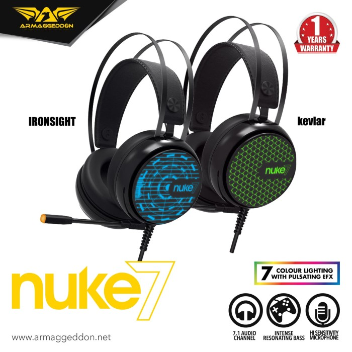 Jual Headset Gaming Armaggeddon Nuke 7 (7 Colour Lighting Pulsating EFX) -  Jakarta Utara - Armaggeddon Official - OS | Tokopedia