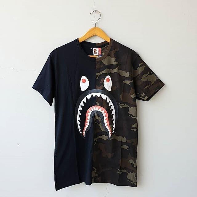 Jual Kaos Premium Bape  Shark Camo Half 33 - FLada Collection ... ae19317367