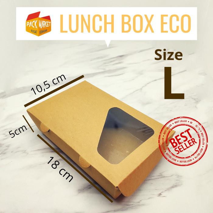 Packaging Makanan: Jual PAPER LUNCH BOX ECO L / DUS KEMASAN/ KOTAK MAKANAN