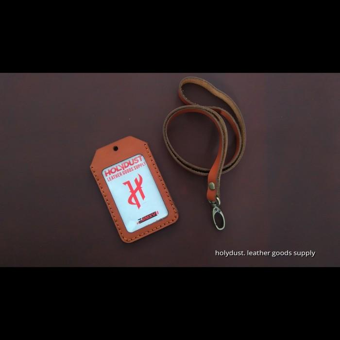 harga Id card holder name tag kulit asli unik kualitas premium Tokopedia.com