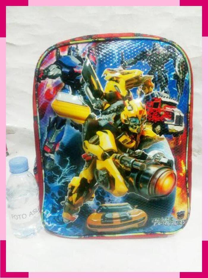 Jual Tas Gendong 3d Transformers Ransel Gambar Timbul Robot