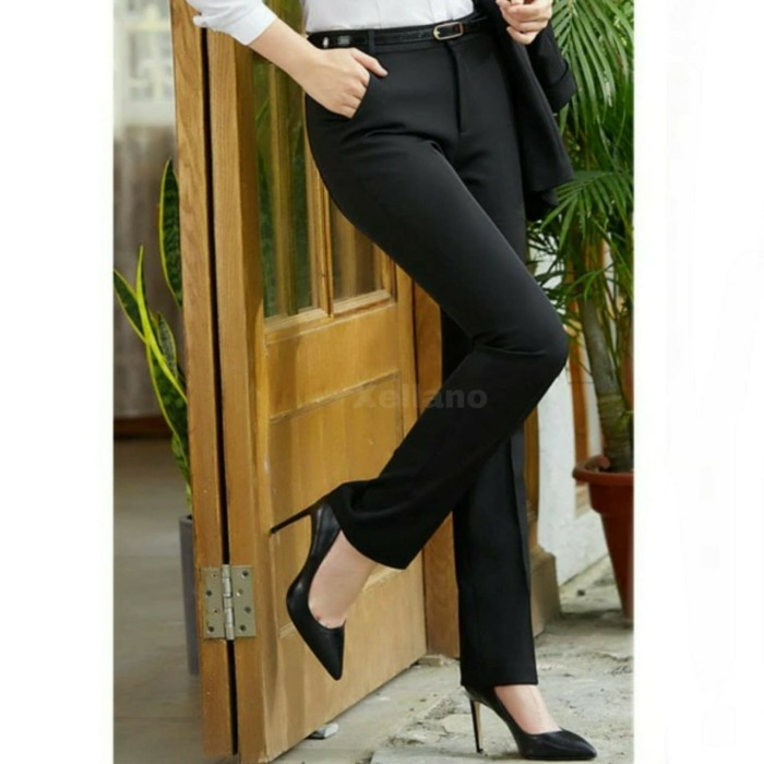 Celana Kerja Bahan Wanita / Celana Formal Kantor Cewek / Celana Kain