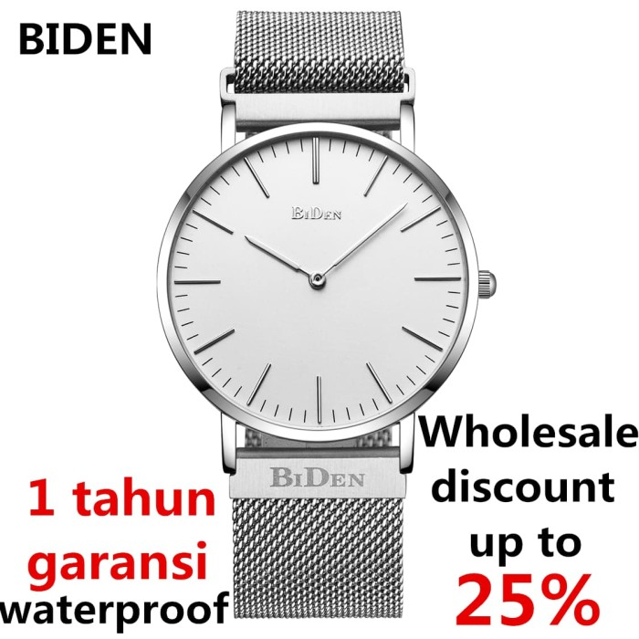 Jual jam tangan Biden pria wanita fashion elegant bisnia sport quartz -  Perak - watchyourhome  df3f01c124