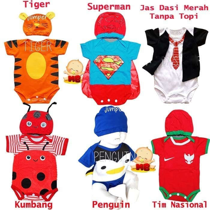 Foto Produk JUMPER bayi lucu karakter costum bayi set topi dari Kosmetik Nasa Cirebon