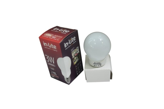 Led Lampu In Lite 3 Watt, Cool Daylight ,sudut Penerangan 270 Derajat