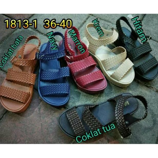 0530be91fbbf Jual FASHION Jelly sandal wanita bara bara karet sendal tali import ...