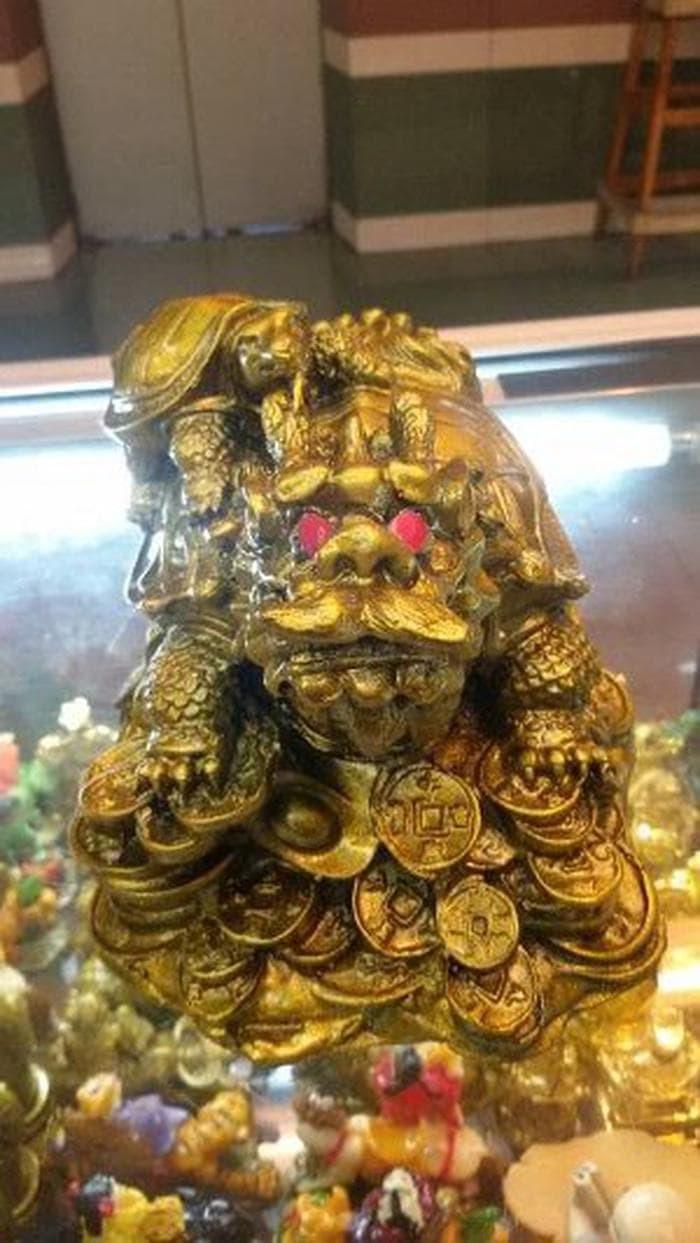 Jual STOK TERBARU Patung Kura Kura Kepala Naga Jumbo Limited Jakarta Barat Fathina Galeri