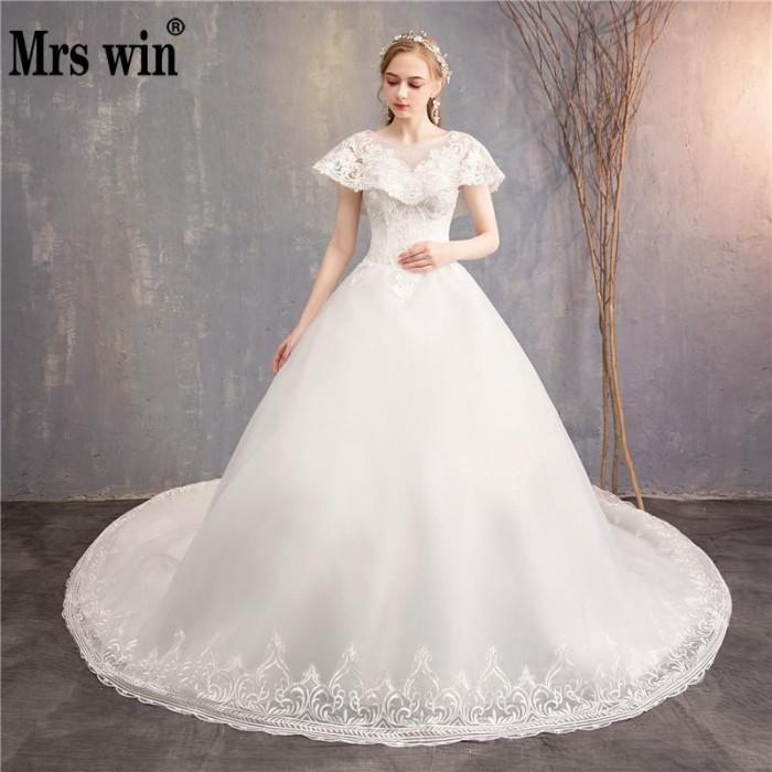 Jual Terbatas Luxury Wedding Dresses Witn Train 2018 New Mrs Win Classi Jakarta Barat Intanshopstore Tokopedia