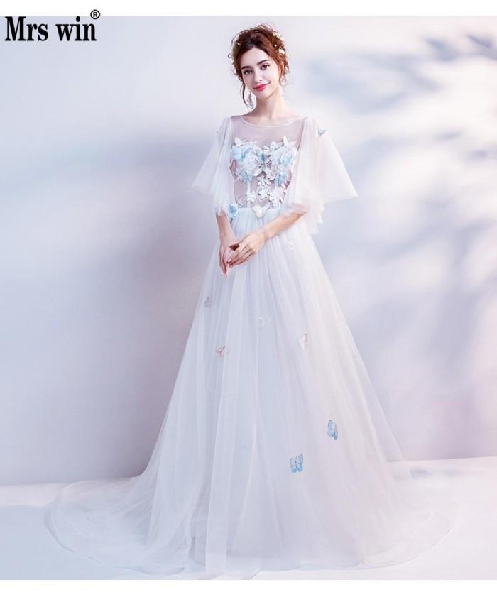 2f669262cf21e Jual Promo Fairy Beach Wedding Dress New Style White Beautiful Flare ...