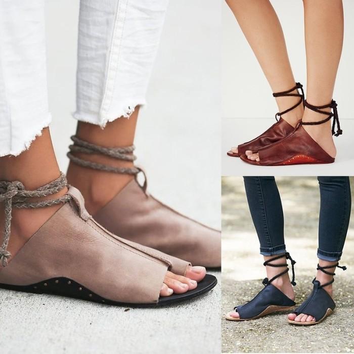 0636623038aa Jual Promo Women Flats Sandals Summer Gladiator Flip-Flops Casual ...