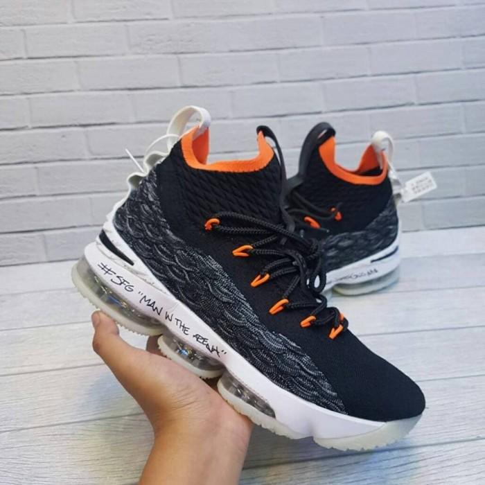 d3c282bc034 Nike lebron 15 xv bright crimson premium original   sepatu basket