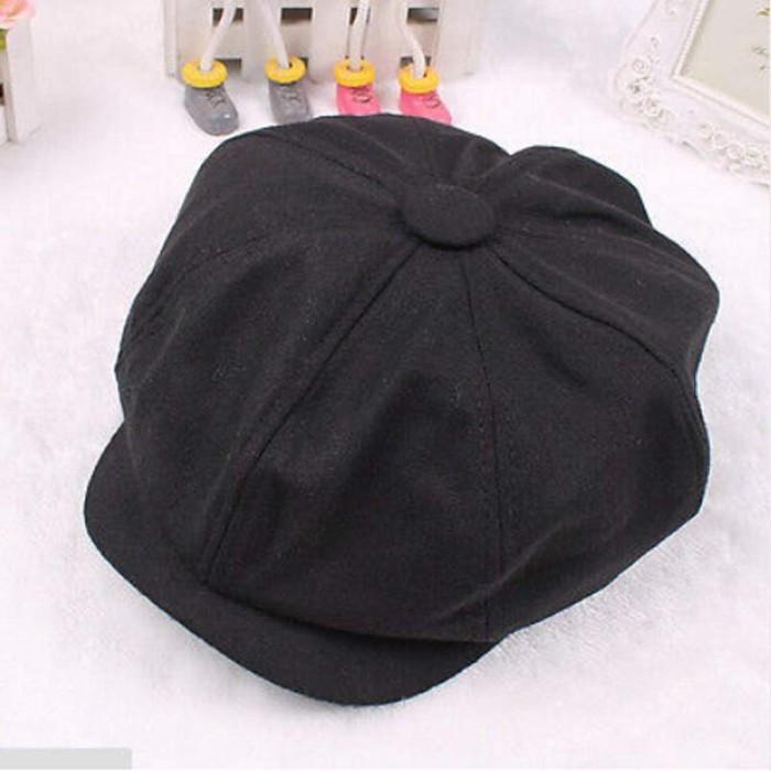Topi Baret Impor Uniseks Tweed Herringbone Gatsby Tutup Pria Wol Antik 89d12f5a11