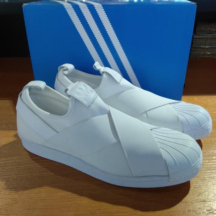 adidas slip on all white