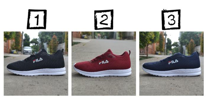 Sepatu Fila Pria - Sepatu Sneakers Pria Murah   Running   Olahraga - Hitam 7df7ed84ea