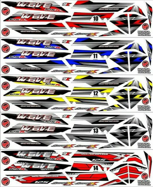 Sticker Striping Variasi Thailand Thailook Supra X 125 D - WAVE R