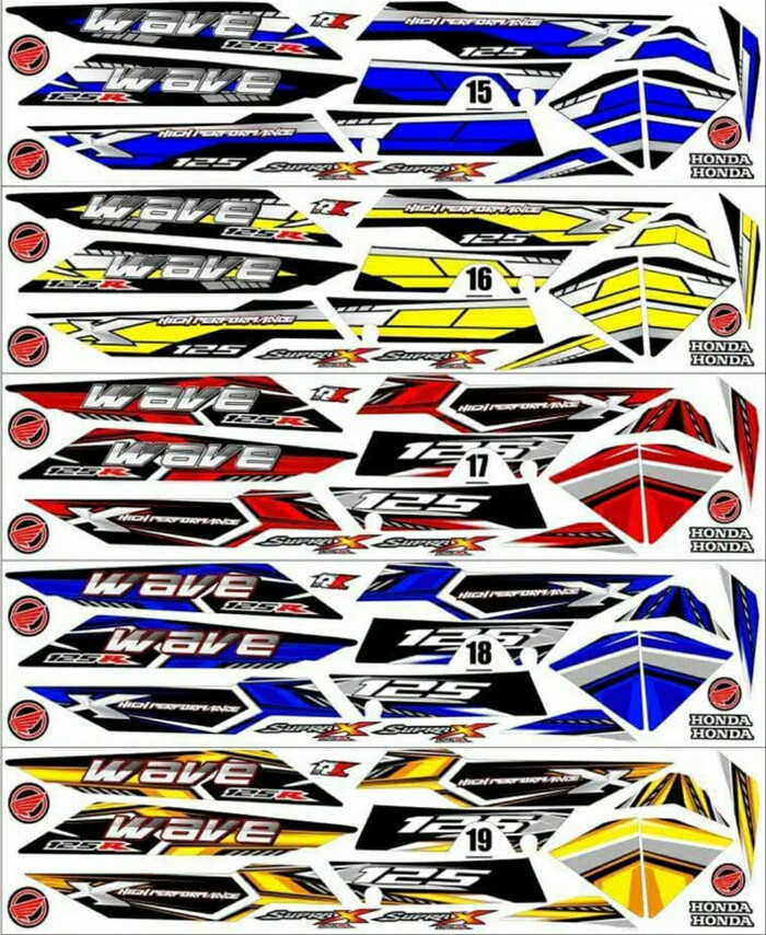Sticker Striping Variasi Thailand Thailook Supra X 125 R WAVE R