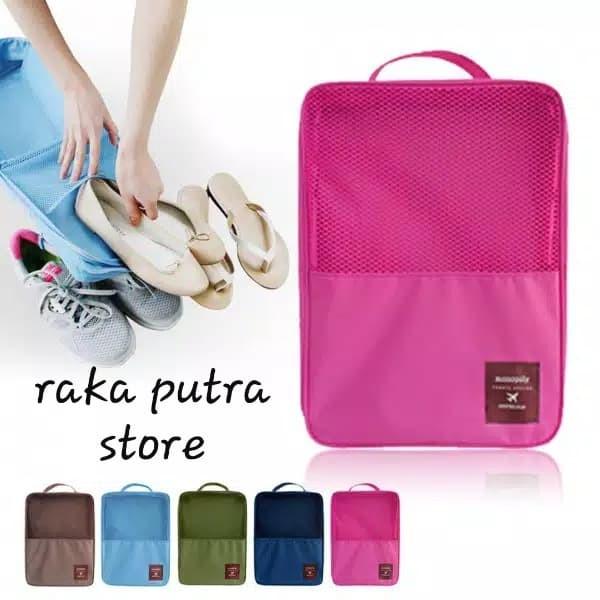 Tas sepatu nylon - monopoly shoes pouch travel organizer / shoes bag