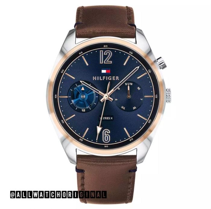 6772efd0 Jam Tommy Hilfiger DEACAN Brown Leather 1791549 Man Pria ORIGINAL