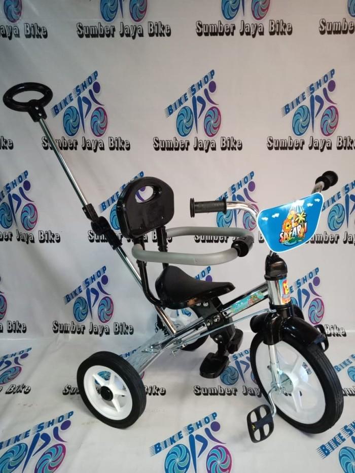 Jual Sepeda anak Roda 3 stenlis dorongan, alas kaki