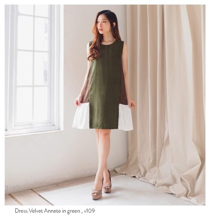 Jual Midi Dress Import Baju Bangkok Casual Berkualitas Velvet Annete Hijau Kota Yogyakarta Vlovi Tokopedia