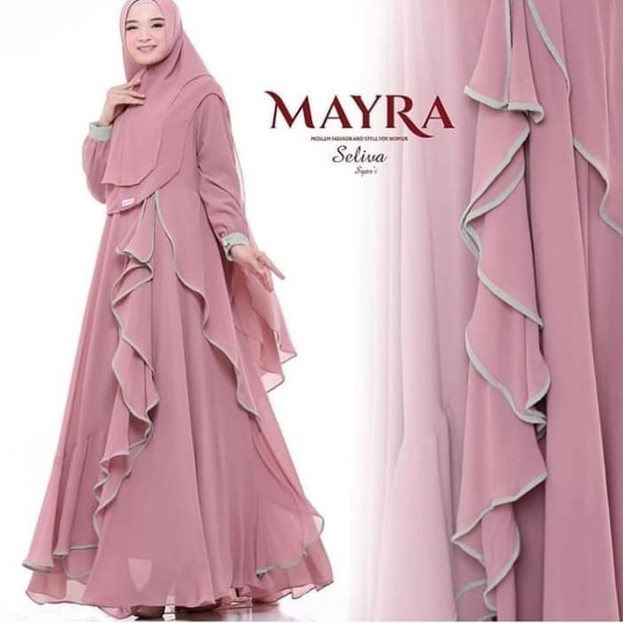 New Selina Syar i Dress + Hijab Baju Wanita Gamis Baju Terusan Panjang -  Navy 94e749270b