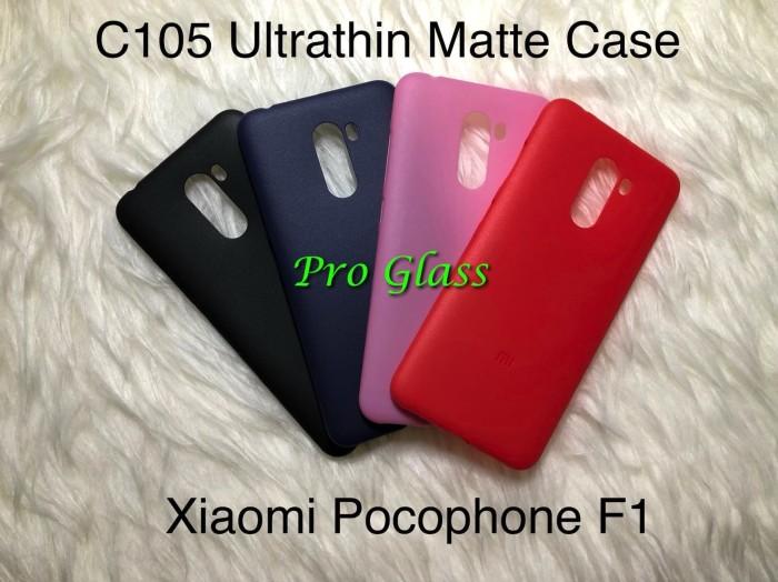 Foto Produk C105 Xiaomi Pocophone F1 Frosted Matte Case Ultrathin Premium Softcase dari Pro Glass