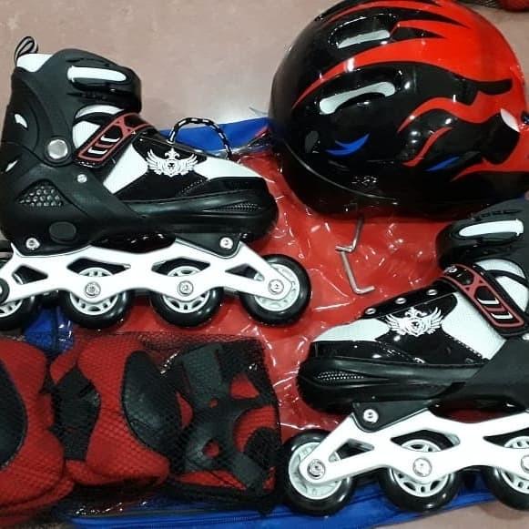 Jual Fullset sepatu roda anak (Body protector+helm)   inline skate ... d9fcf82448