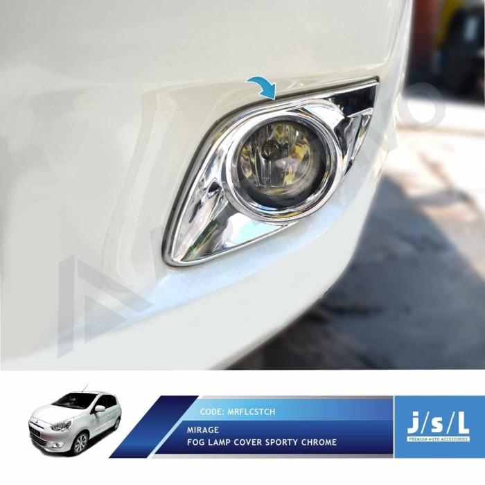 Mitsubishi mirage fog lamp cover sporty chrome/aksesoris mirage