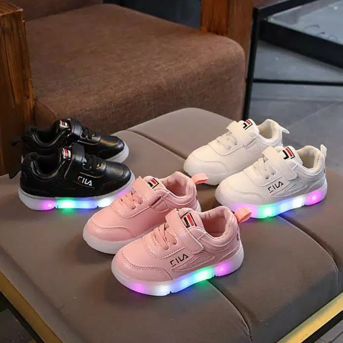 Review Sepatu Led Anak Import Sz 21-30 Model Fila Disruptor Di ... bca41254ba