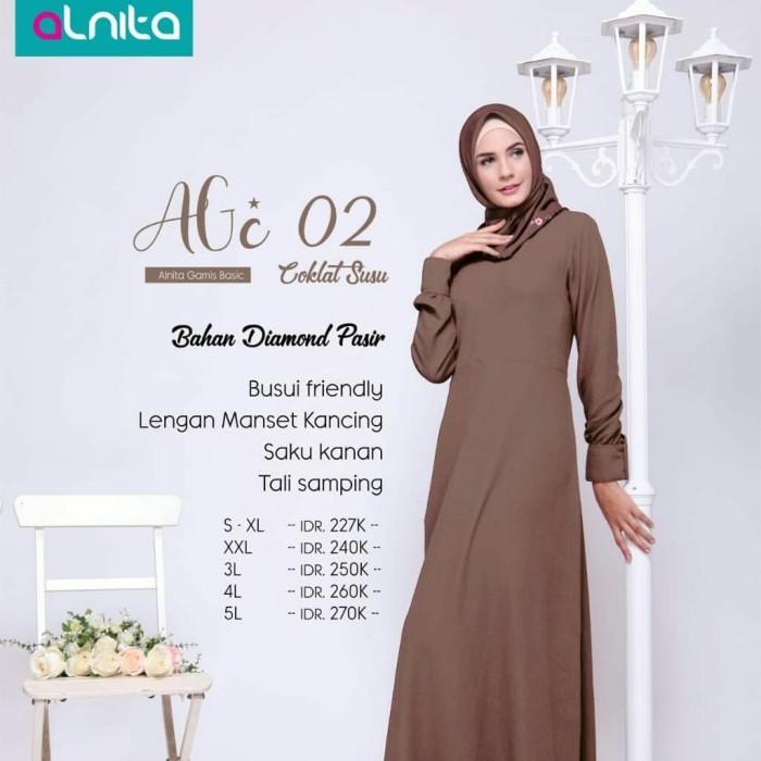 Jual Alnita Gamis Basic Agc 02 Warna Coklat Susu Bahan Diamond Pasir Busui Kota Tangerang Selatan Hibban Online Shop Tokopedia