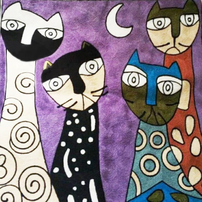 Jual Lukisan Diamond 5d Gambar Kucing Abstrak Jakarta Utara