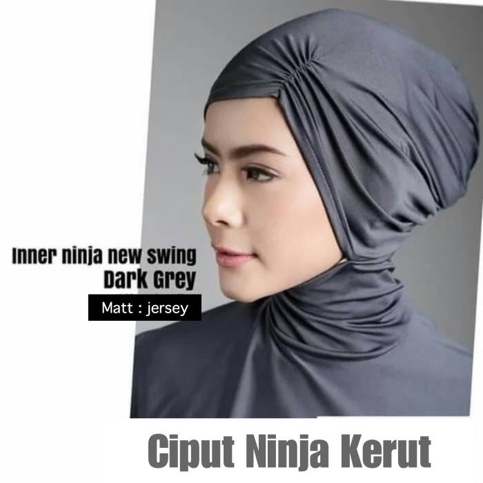 Ciput Ninja Kerut Bahan Jersey